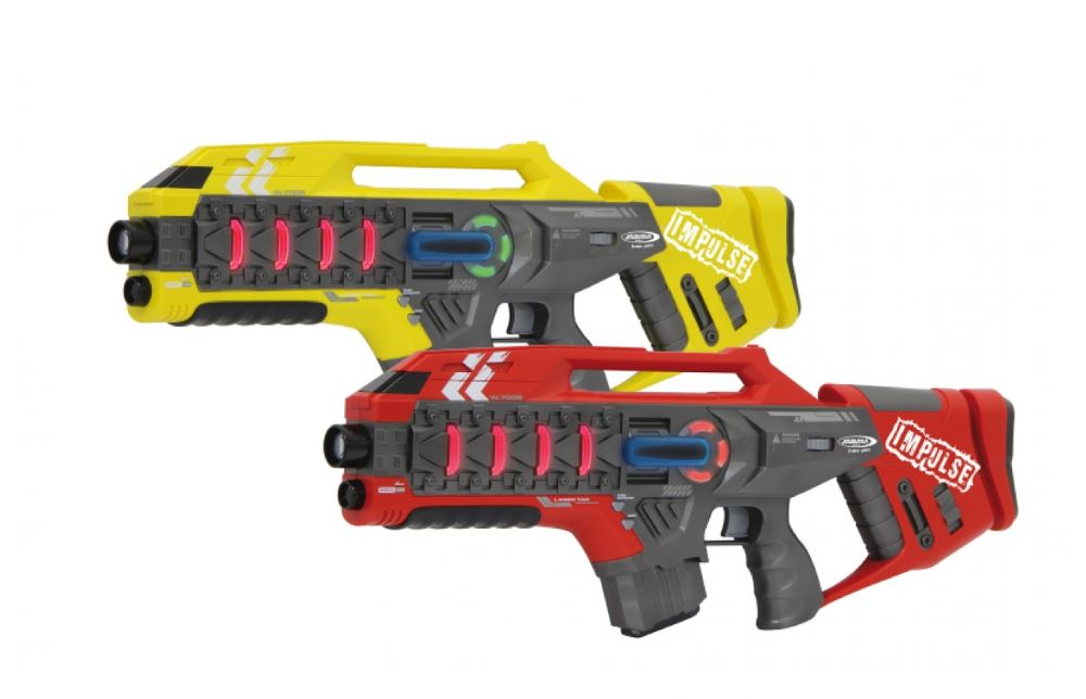JAMARA Impulse Laser Gun Rifle set μάχης με ήχο, LED, δόνηση - JAMARA 23228
