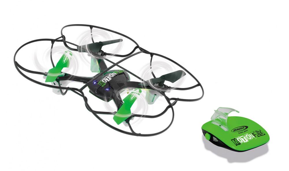 JAMARA Drone MotionFly, G-Sensor, 6 Axis, 360 flips, turbo, LED, μαύρο - JAMARA 18275