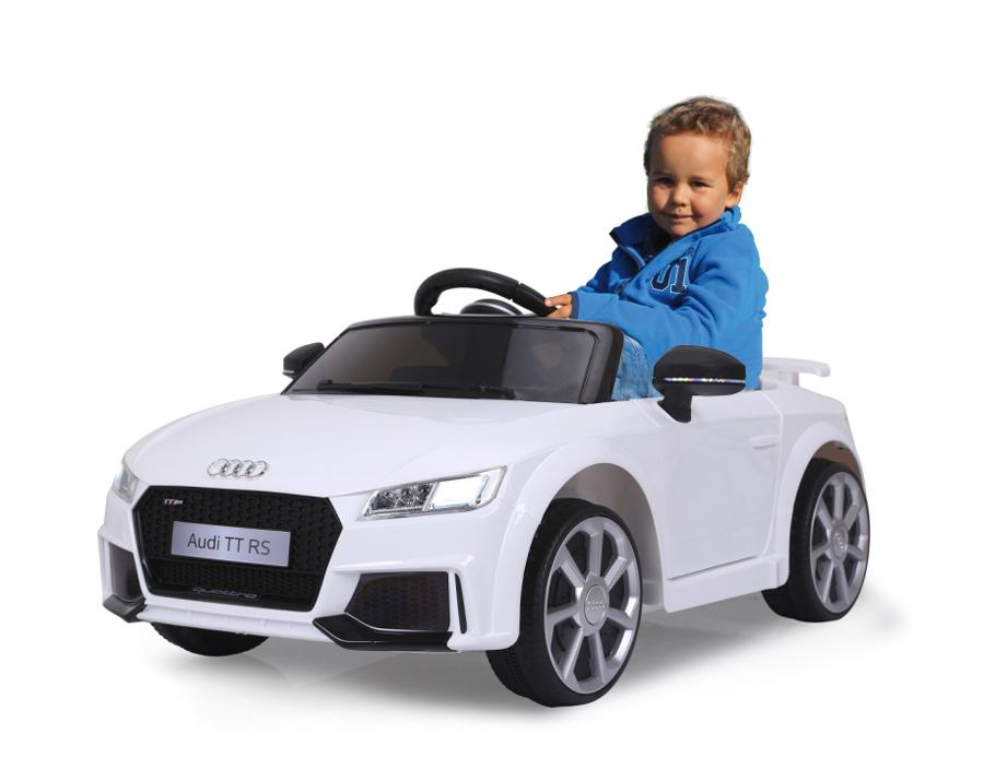 JAMARA Ride on Αυτοκίνητο Audi TT RS, 1:4, 2 ταχύτητες, AUX/USB, λευκό - JAMARA 18581