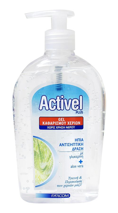 ACTIVEL αντισηπτικό gel χεριών, με γλυκερίνη & aloe vera, 500ml - ACTIVEL 30876