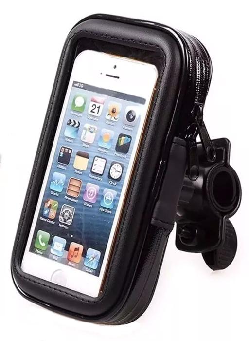 Θήκη κινητού με περιστρεφόμενη βάση για ποδήλατο 59695, μαύρη - UNBRANDED 41899