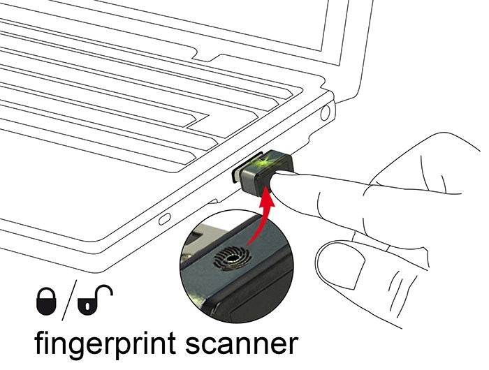 DELOCK USB Type-A Fingerprint Scanner για Windows 10 Hello - DELOCK 16781