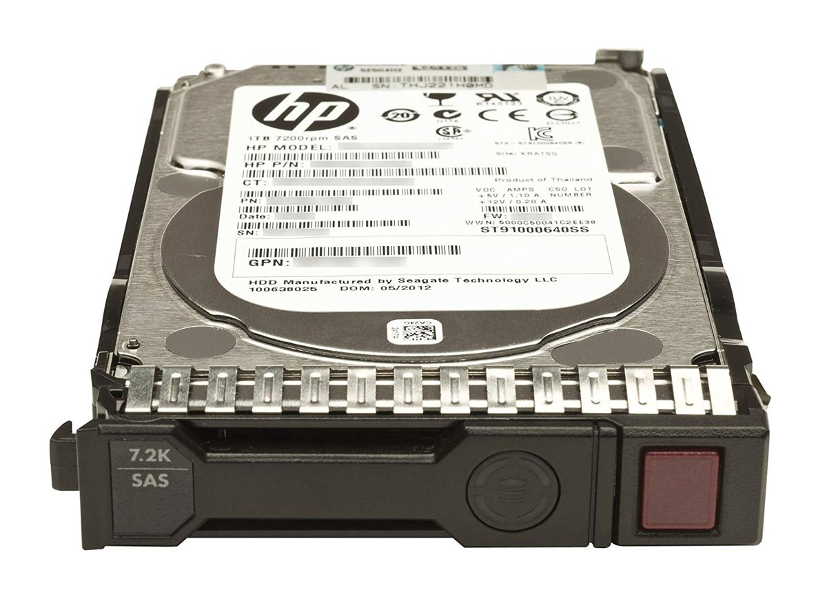 "HP used SAS HDD 652757-B21, 2TB, 7200RPM, 3.5"", με Tray - HP 22779"