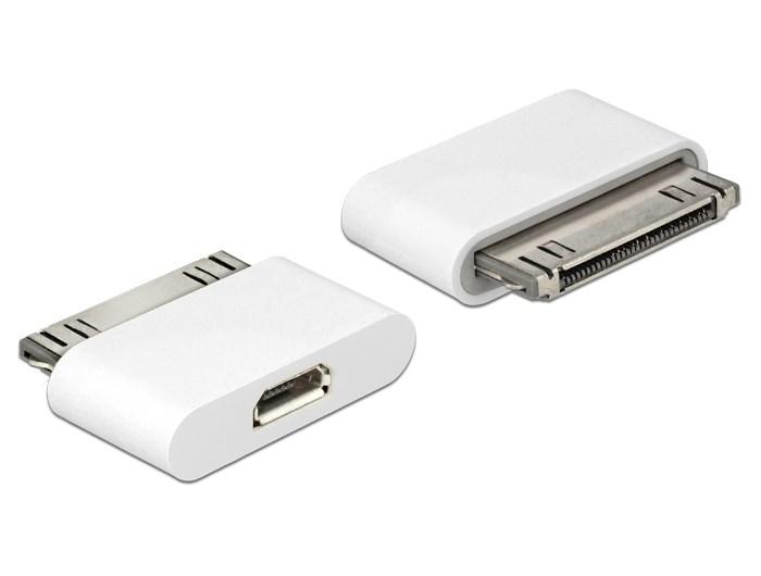 DELOCK Adapter USB Micro σε iPhone 30-pin, White - DELOCK 8805