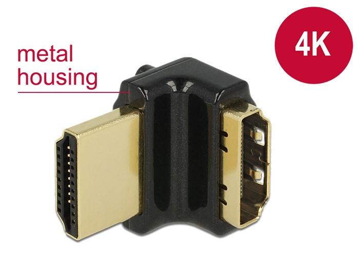 DELOCK HDMI Αντάπτορας από HDMI-A female σε HDMI-A male, 4K, 90° up - DELOCK 9213