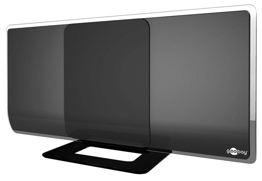 GOOBAY εσωτερική κεραία 67179, ενεργή, Full HD, DVB-T2, μαύρη - GOOBAY 39597