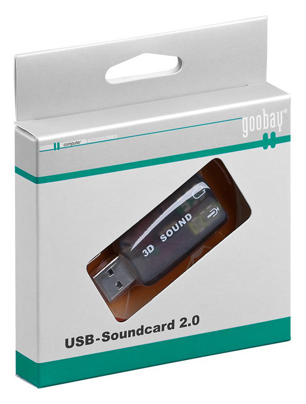 GOOBAY USB κάρτα ήχου 68878, με έξοδο μικρόφωνου και ακουστικού - GOOBAY 36990