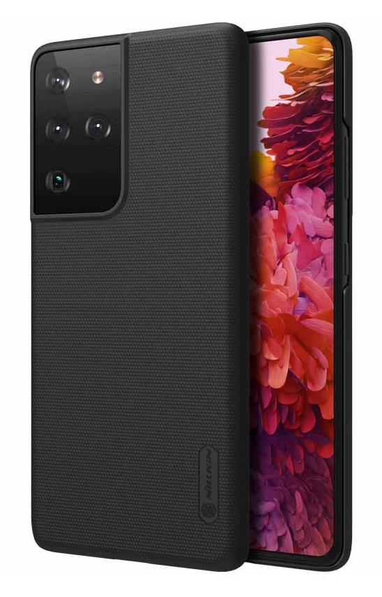 NILLKIN θήκη Super Frost Shield για Samsung Galaxy S21 Ultra, μαύρη - NILLKIN 37094