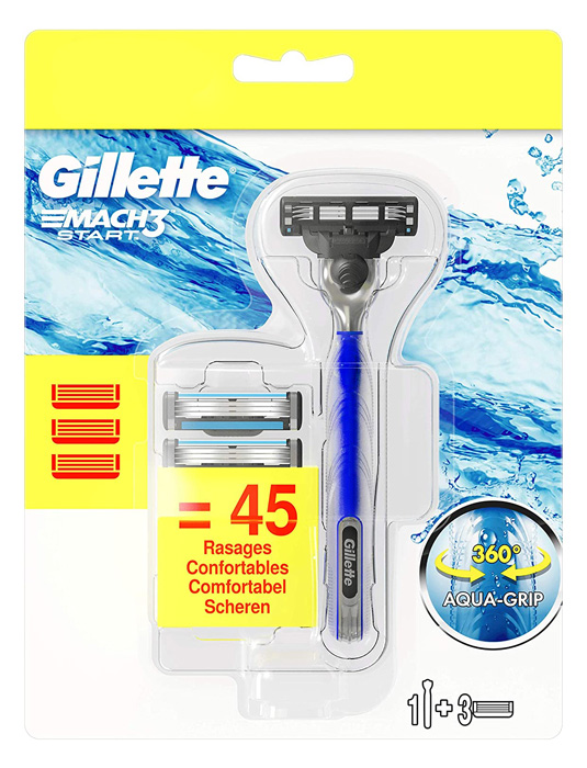 GILLETTE Ξυριστική μηχανή Mach3 Start με 3 ανταλλακτικές κεφαλές - GILLETTE 39787