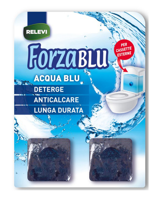 REZEVI κύβοι καθαρισμού για καζανάκι Forza Blu, 2τμχ - RELEVI 30617