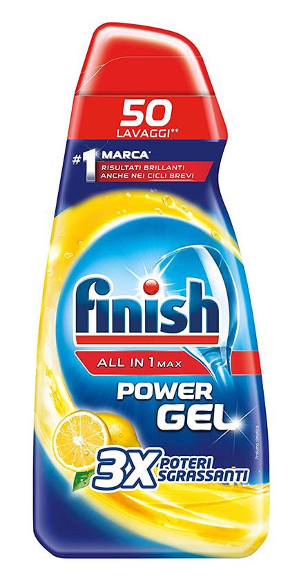 FINISH απορρυπαντικό πλυντηρίου πιάτων all in 1 Max Lemon Gel, 650ml - FINISH 31175