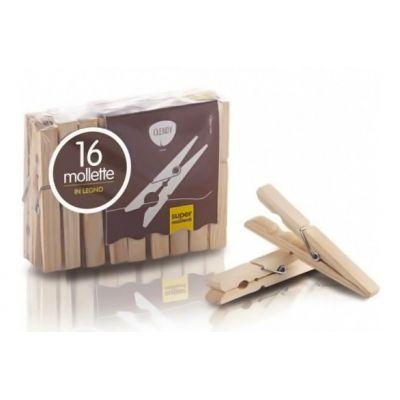 CLENDY ξύλινα μανταλάκια ρούχων, 16τμχ - CLENDY 30885