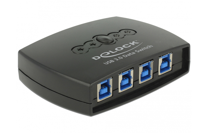 DELOCK USB 3.0 Switch, 4x input type B (F), 1x output type A (F), μαύρο - DELOCK 20200