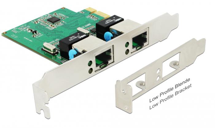 DELOCK PCI Express Card σε 2x Gigabit LAN 89999, έως 1000 Mbps - DELOCK 28386