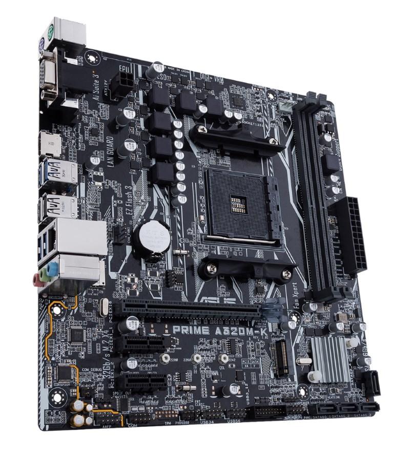 ASUS Μητρική Prime A320M-K, 2x DDR4, AMD AM4, USB 3.0, SATA 6Gb/s, mATX - ASUS 21933
