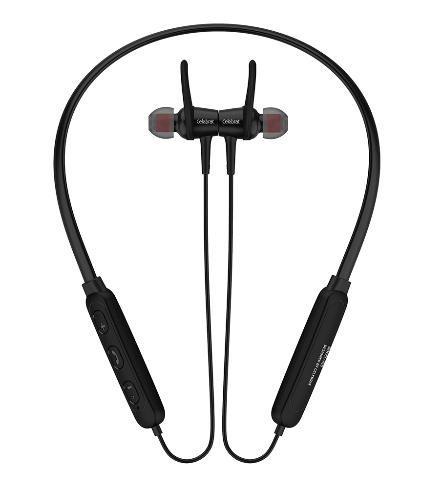 CELEBRAT Bluetooth A15-BK με μικρόφωνο HD, Magnetic, 10mm, μαύρα - CELEBRAT 23194