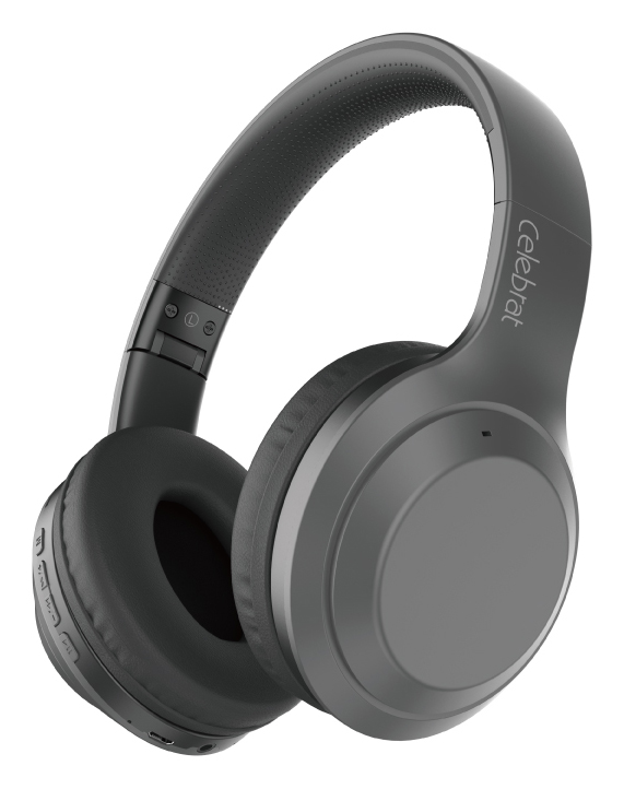 CELEBRAT headphones A24, wireless & wired, BT 5.0, 40mm, μαύρα - CELEBRAT 37062