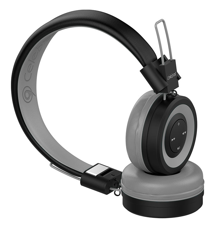 CELEBRAT Bluetooth headphones A4-GY, wireless & wired, 40mm, μαύρο-γκρι - CELEBRAT 27368