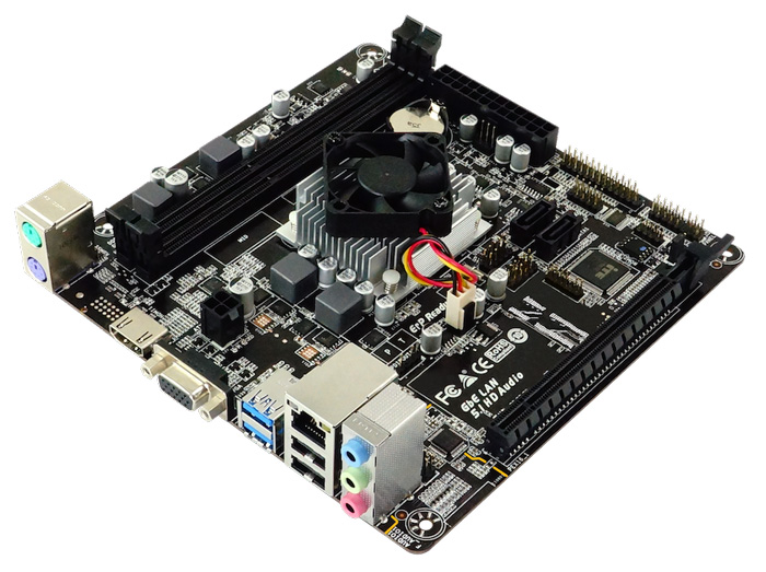 BIOSTAR Μητρική A68N-5600E και CPU A4-3350B, 2x DDR3, Mini ITX, Ver. 6.0 - BIOSTAR 37372