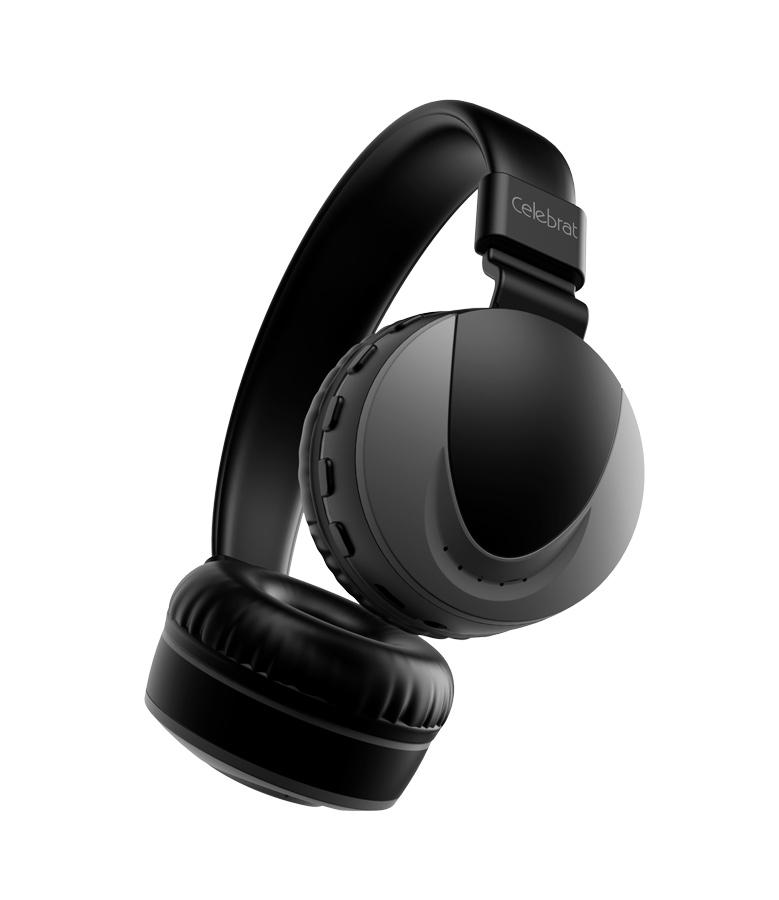 CELEBRAT Headphones με μικρόφωνο Α9, Bluetooth, 40mm, μαύρα - CELEBRAT 20120