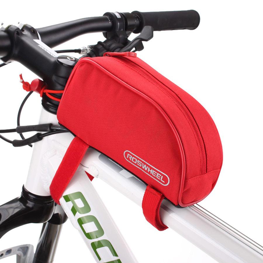 ROSWHEEL Τσάντα ποδηλάτου με ιμάντες πρόσδεσης, Red - ROSWHEEL 14929