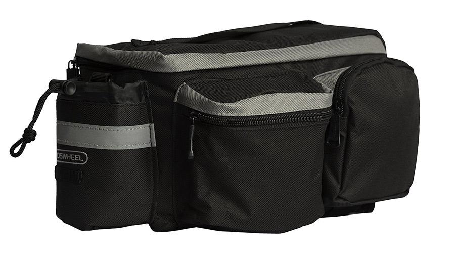 ROSWHEEL Τσάντα ποδηλάτου για rack, Multifunctional, 6L, Black - ROSWHEEL 15791