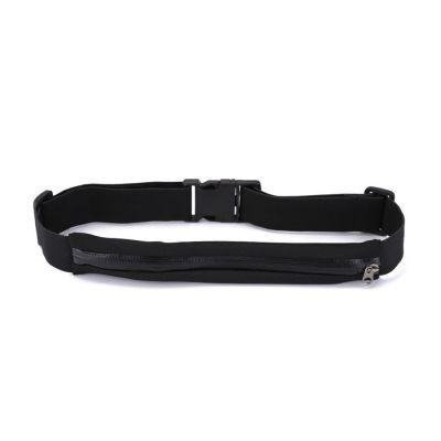 Ζώνη μέσης με ανακλαστήρες και τσέπη με φερμουάρ, Μαύρη - POWERTECH 18251