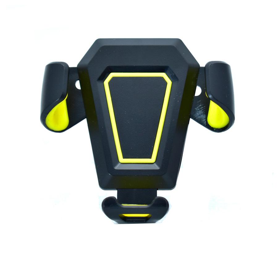 """Βάση αεραγωγού αυτοκινήτου MV2 για Smartphone έως 6"""", μαύρη-κίτρινη - UNBRANDED 18204"""