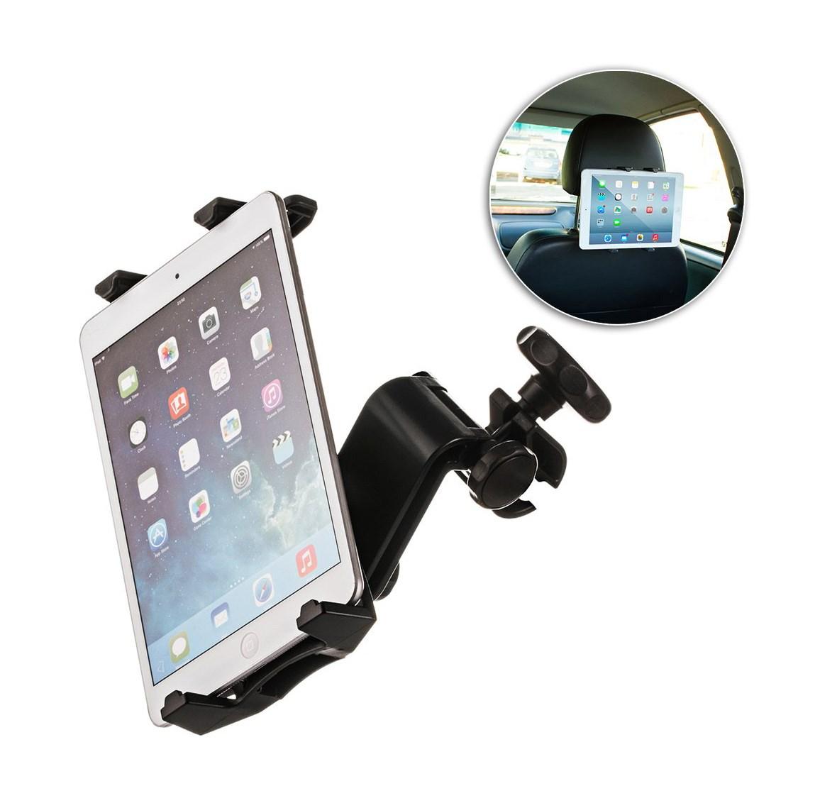 """Βάση Tablet universal για κάθισμα αυτοκινήτου, 10.1"""", 21cm 360° , μαύρη - UNBRANDED 22342"""