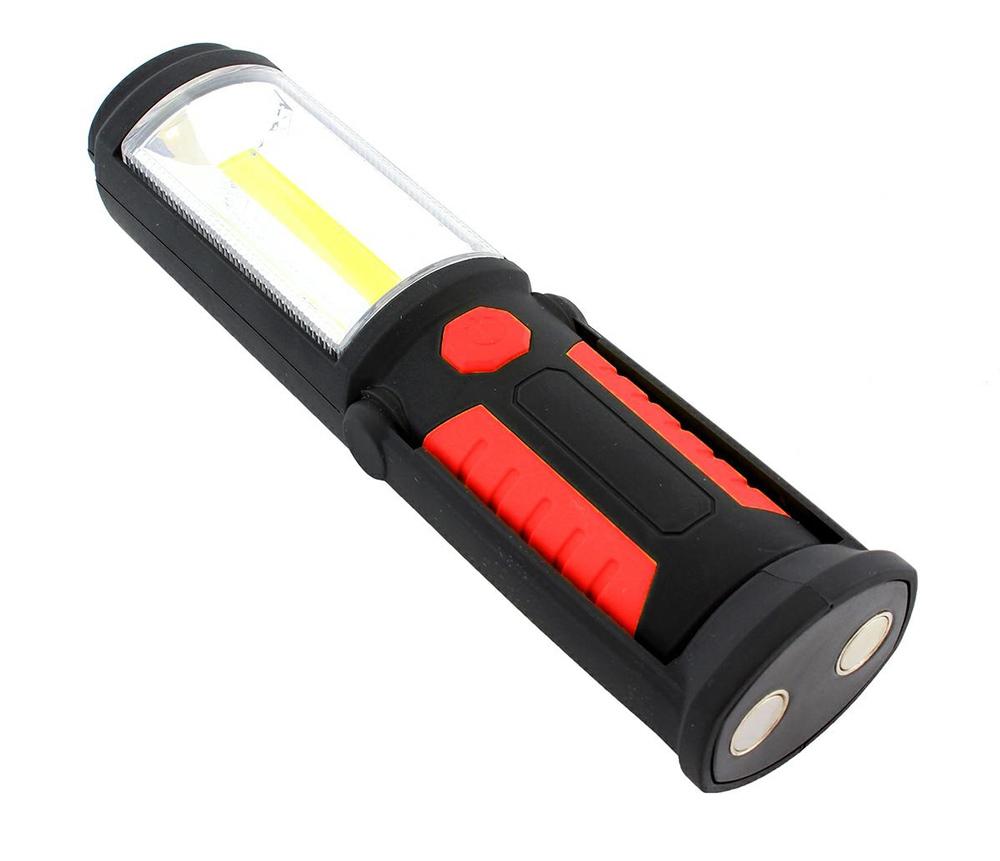 Φακός εργασίας AG121C με εμπρόσθιο & πλαϊνό LED, μαγνητική βάση, κόκκινο - UNBRANDED 25080