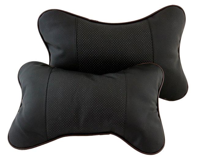 Μαξιλάρι καθίσματος AG353A από οικολογικό δέρμα, μαύρο, 2τμχ - UNBRANDED 30055