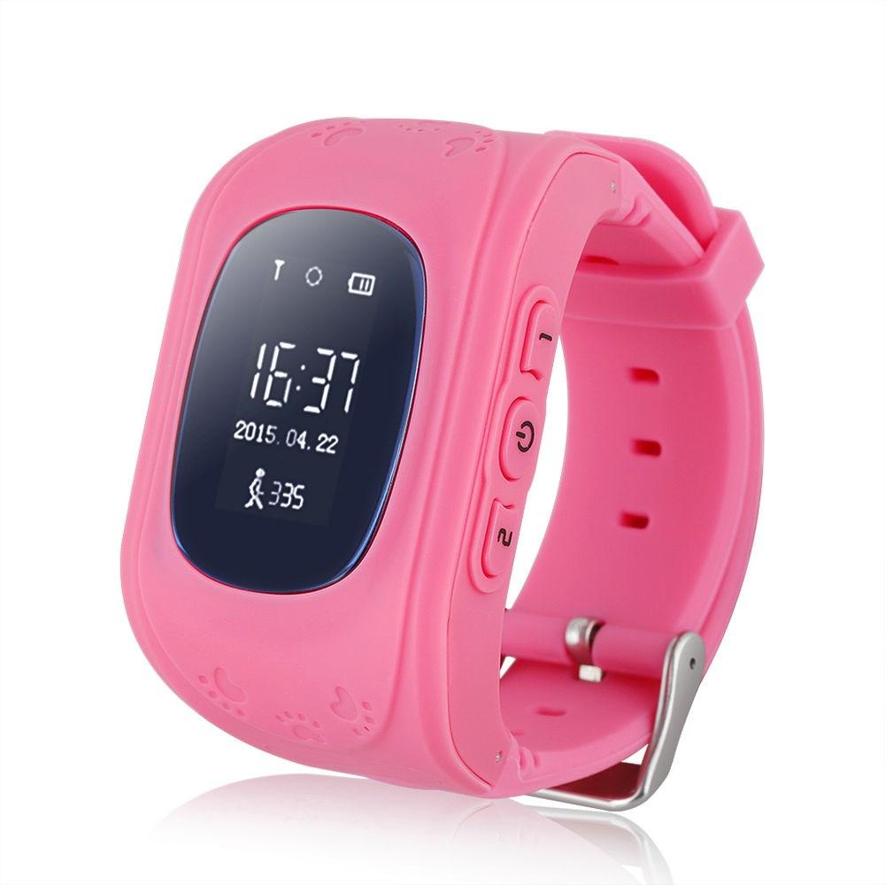 GPS Tracker Παιδικό ρολόι χειρός Q50, SOS-Βηματομετρητής, Pink - UNBRANDED 11650