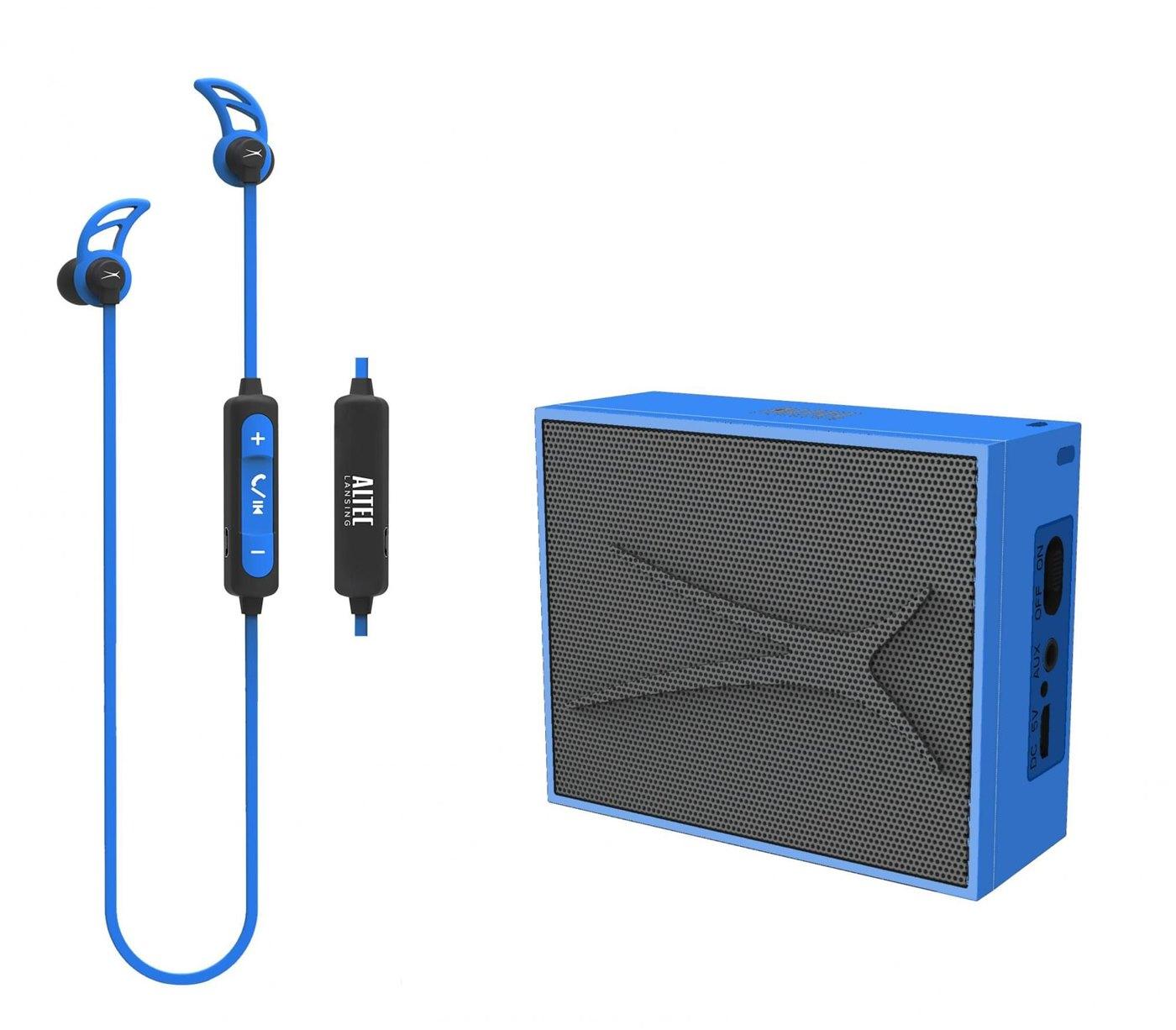 ALTEC LANSING Earphone & speaker, bluetooth 4.1, 10m, 2W RMS, μπλε - ALTEC 22945