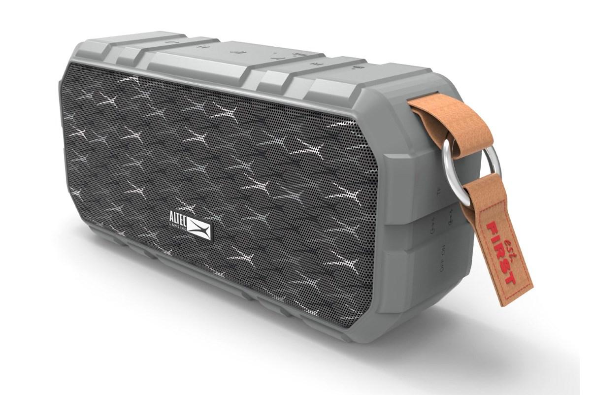 ALTEC LANSING φορητό ηχείο X-Wild 10W, αδιάβροχο, power bank, γκρι - ALTEC 21754
