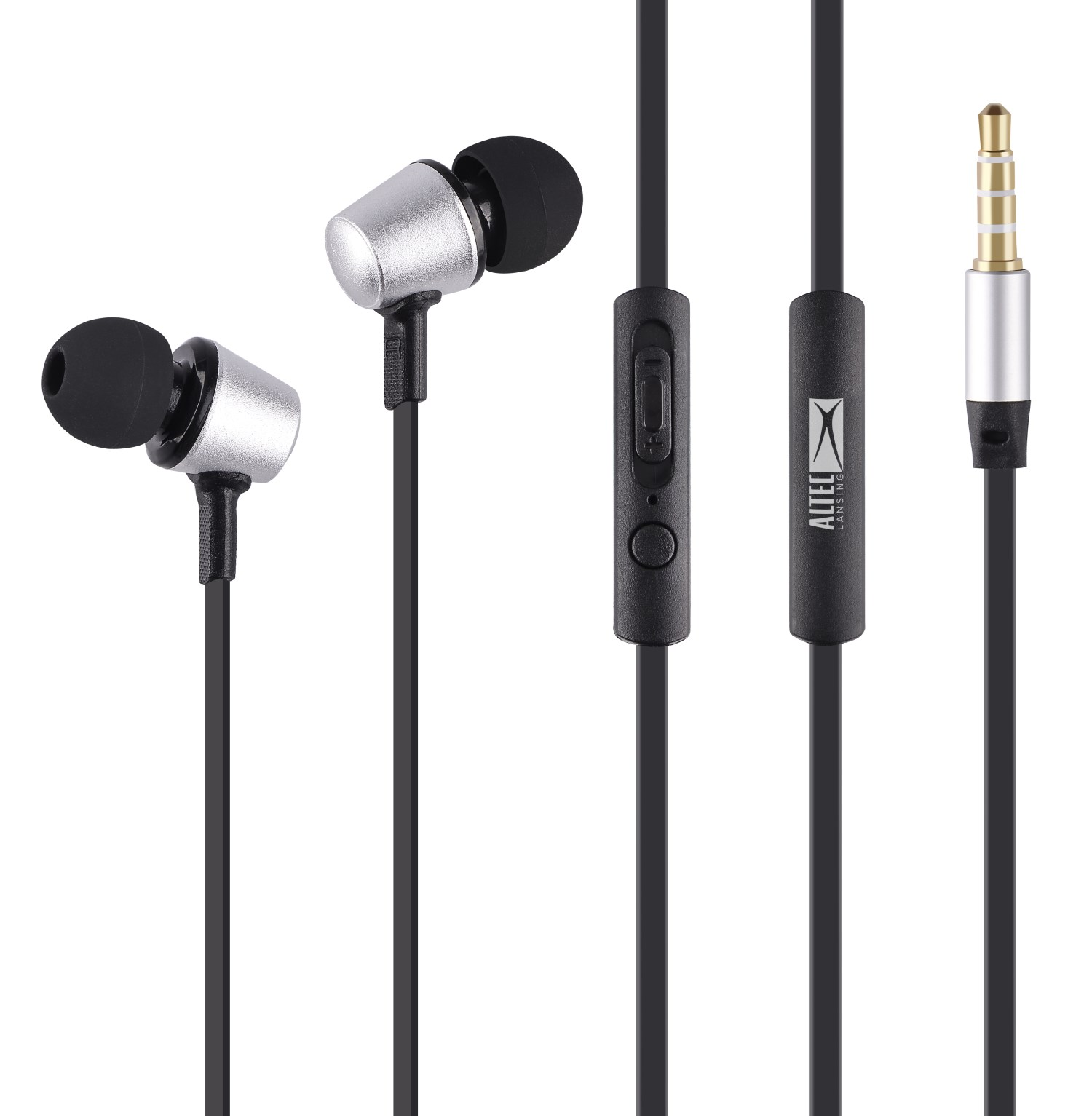 ALTEC LANSING earphones Eternity, mic, Button , 100dB, ασημί - ALTEC 21738