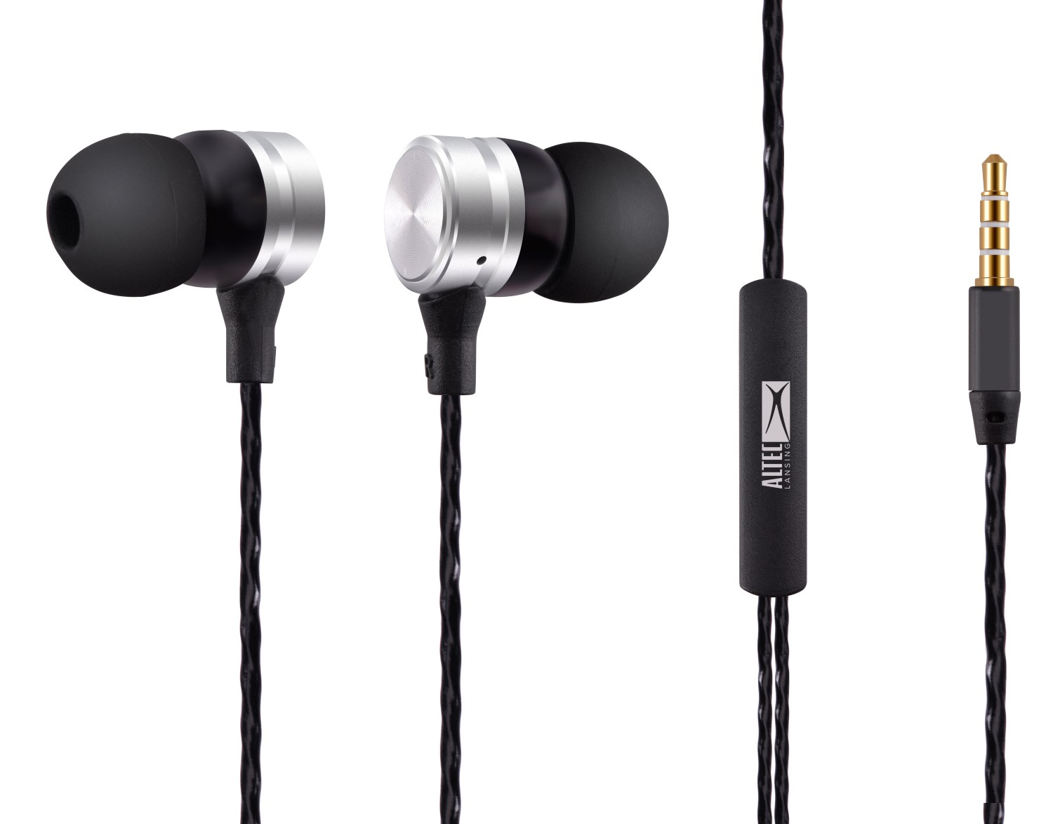 ALTEC LANSING earphones Inspire, mic, Button, 110dB, ασημί - ALTEC 21736