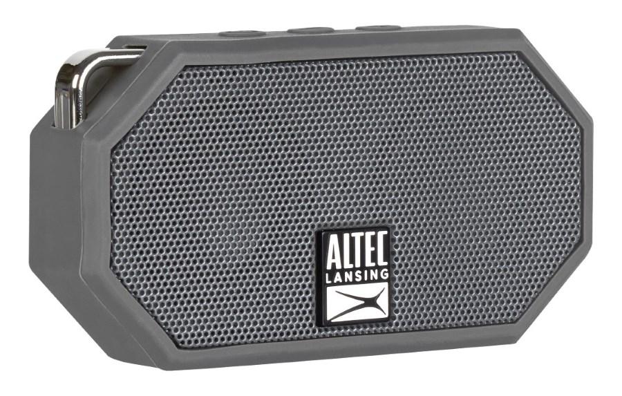 ALTEC LANSING φορητό ηχείο Mini H2O, IP67, με γάντζο, γκρι - ALTEC 21765