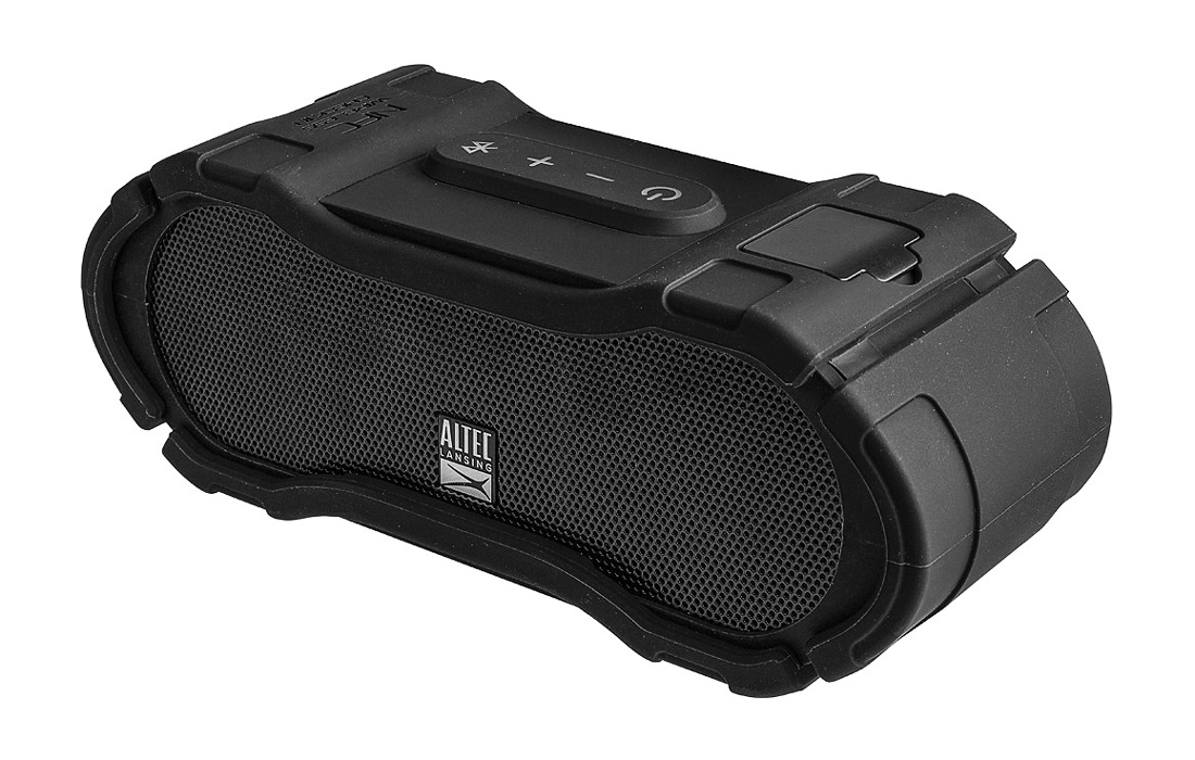 ALTEC LANSING φορητό ηχείο Boomjacket, IP67, power bank, NFC, μαύρο - ALTEC LANSING 21769