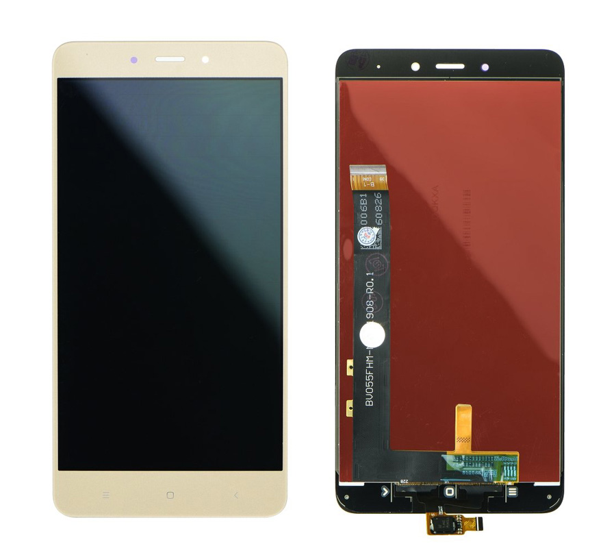 LCD & Touchscreen Digitizer για Xiaomi Redmi Note 4 Mediatek, χρυσό - UNBRANDED 18594