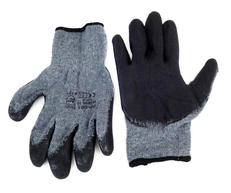 Αντιολισθητικά γάντια εργασίας 02047, γκρι-μαύρο - AMIO 27270