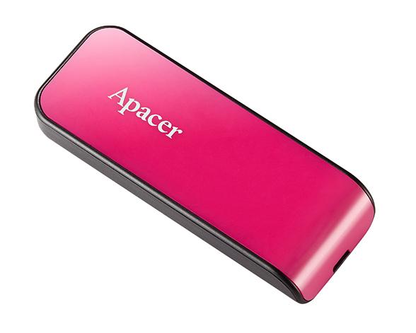 APACER USB Flash Drive AH334, USB 2.0, 32GB, Pink - APACER 8728