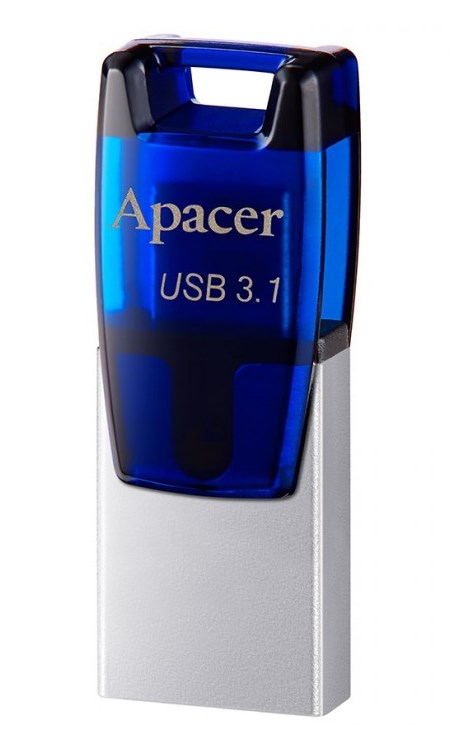 APACER USB Flash Drive AH179, USB 3.1, 64GB, Blue - APACER 10727