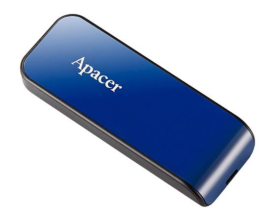 APACER USB Flash Drive AH334, USB 2.0, 64GB, Blue - APACER 8731