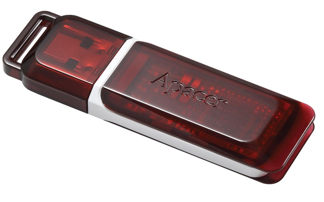 APACER USB Flash Drive AH321, USB 2.0, 8GB, Red - APACER 8752