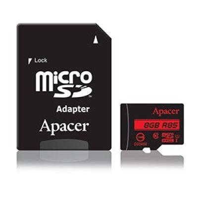 APACER Κάρτα Μνήμης Micro SDHC UHS-I U1 R85, 8GB, Class10 - APACER 10721