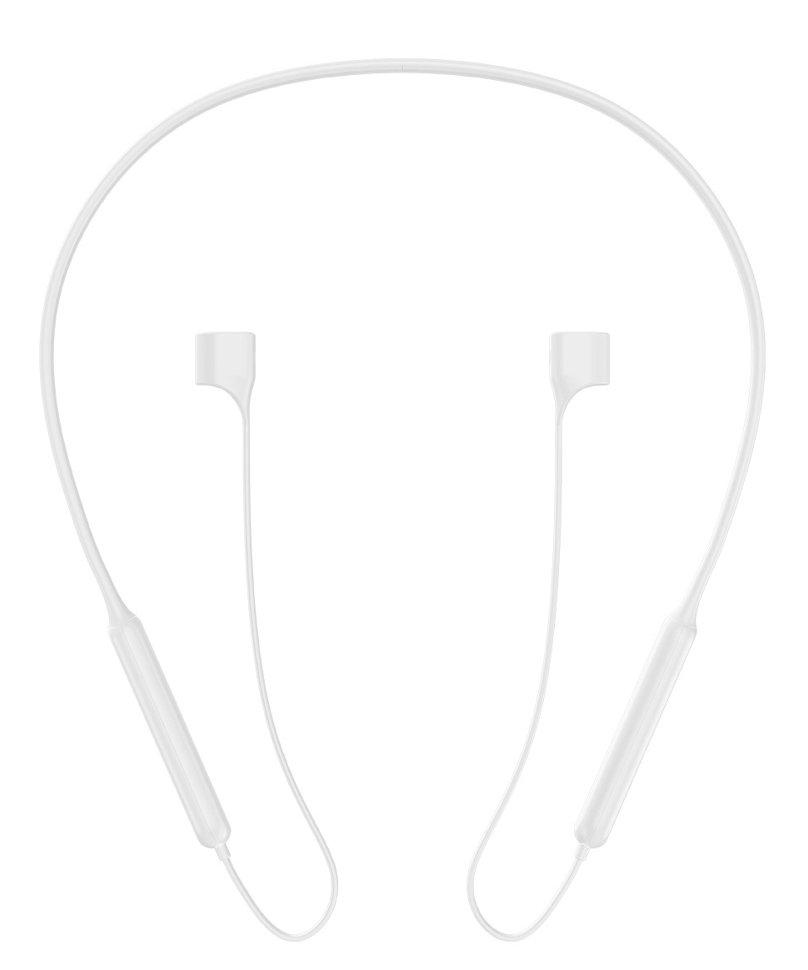 BASEUS λουράκι σιλικόνης για AirPods ARAPPOD-02, λευκό - BASEUS 27133