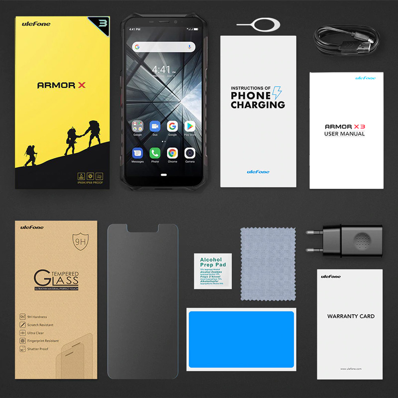 "ULEFONE Smartphone Armor X3, IP68/IP69K, 5.5"", 2/32GB, 5000mAh, μαύρο - ULEFONE 26725"