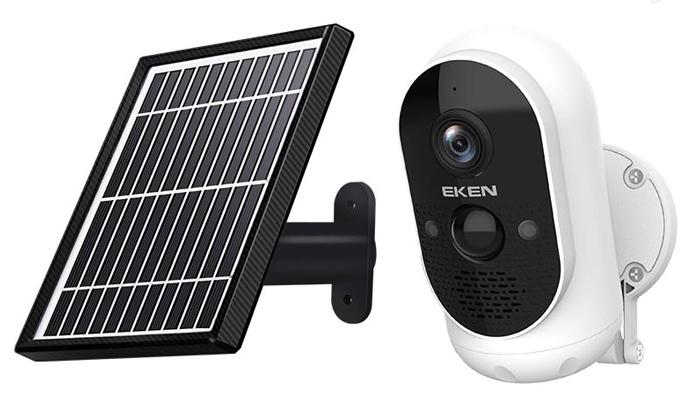 EKEN ασύρματη ηλιακή κάμερα ASTRO, Full HD, WiFi, PIR, IP65, λευκή - EKEN 42004