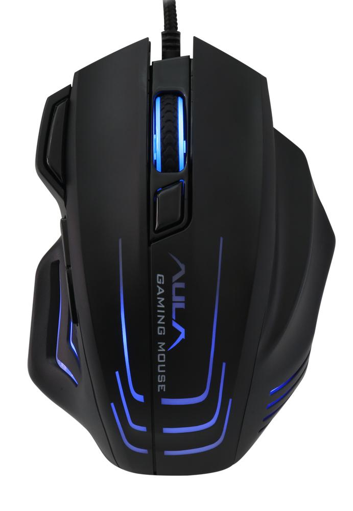 AULA ενσύρματο gaming ποντίκι Mountain S18, 7 πλήκτρα, RGB, μαύρο - AULA 34367