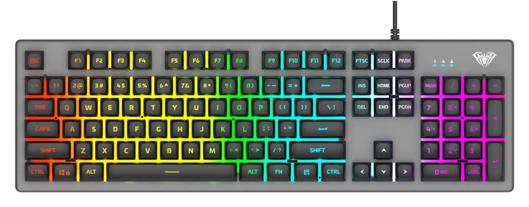 AULA Gaming πληκτρολόγιο S2056, RGB, μαύρο-γκρι - AULA 36557